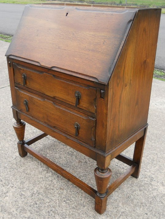 Oak Writing Bureau Desk